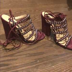 Brand new Sergio Rossi studded ankle wrap